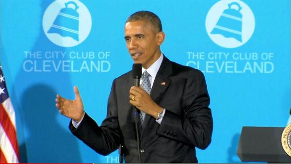 President Obama talks about mandatory voting.