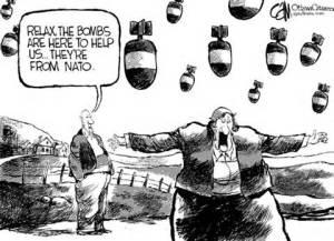NATO bombs